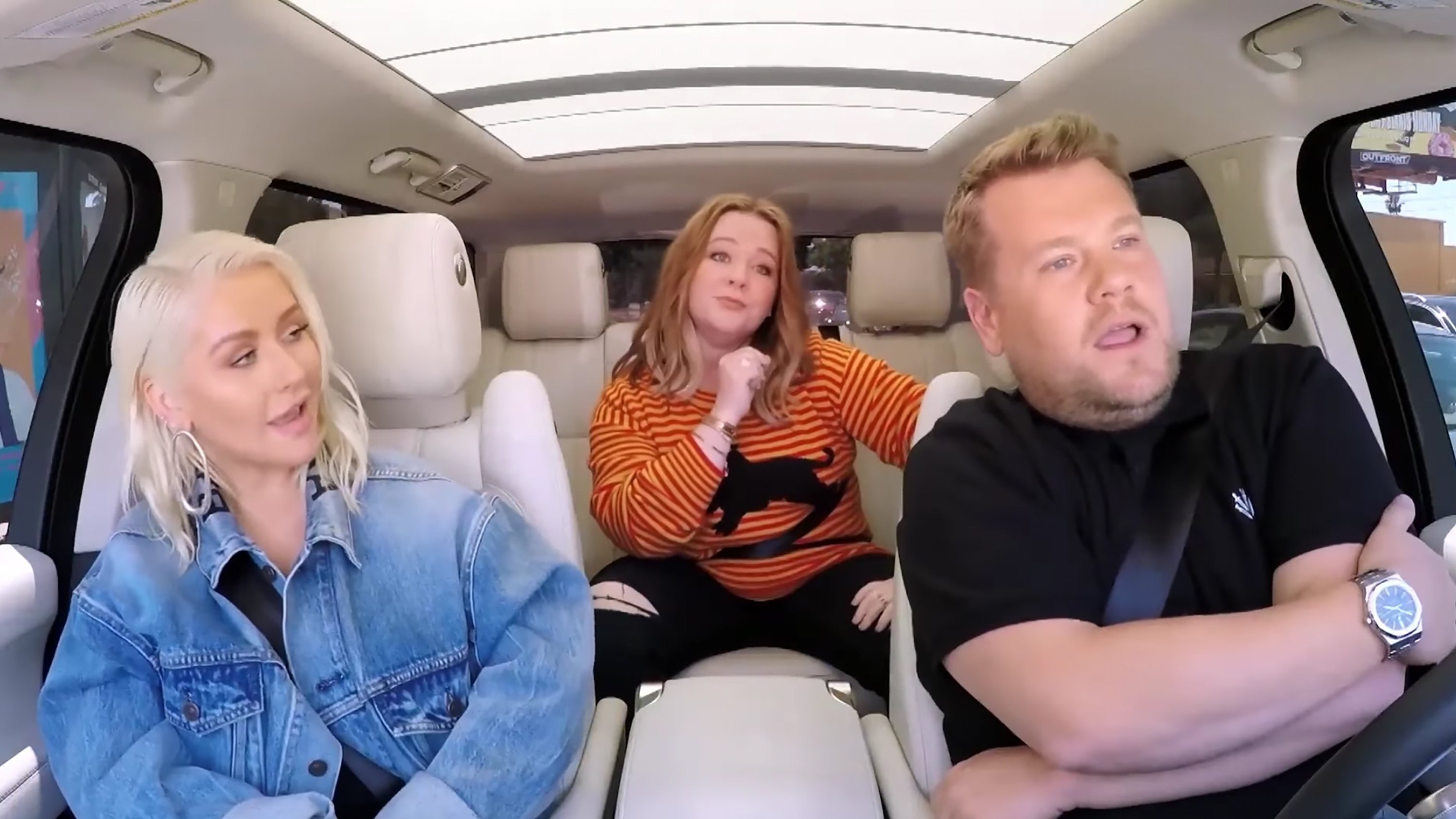 Christina Aguilera and Melissa Mc Carthy brought the heat on James Corden's