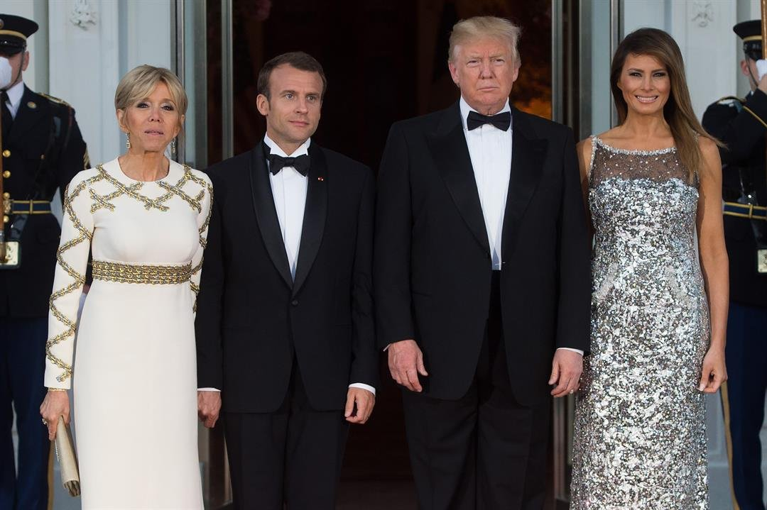 President Donald Trump and first lady Melania Trump are hosting the administration's first state dinner with French President Emmanuel Macron and his wife Brigitte