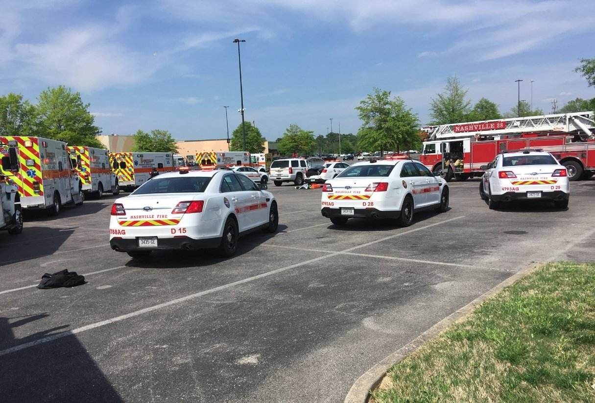 Nashville police responded to reports of a shooting at the Opry Mills shopping mall on Thursday