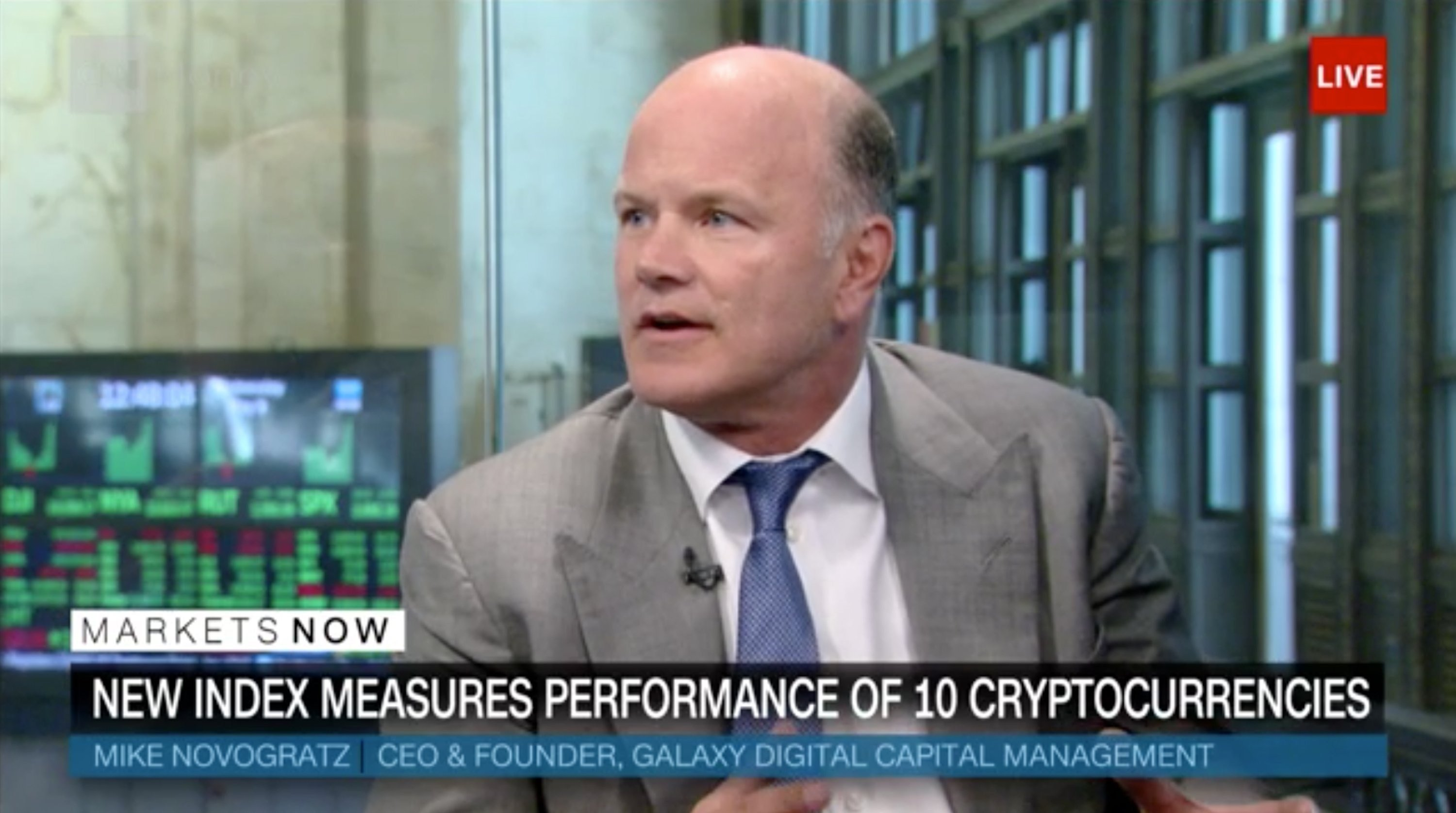 Bloomberg Partners Novogratz's Galaxy Digital Capital To Launch Cryptocurrency Index