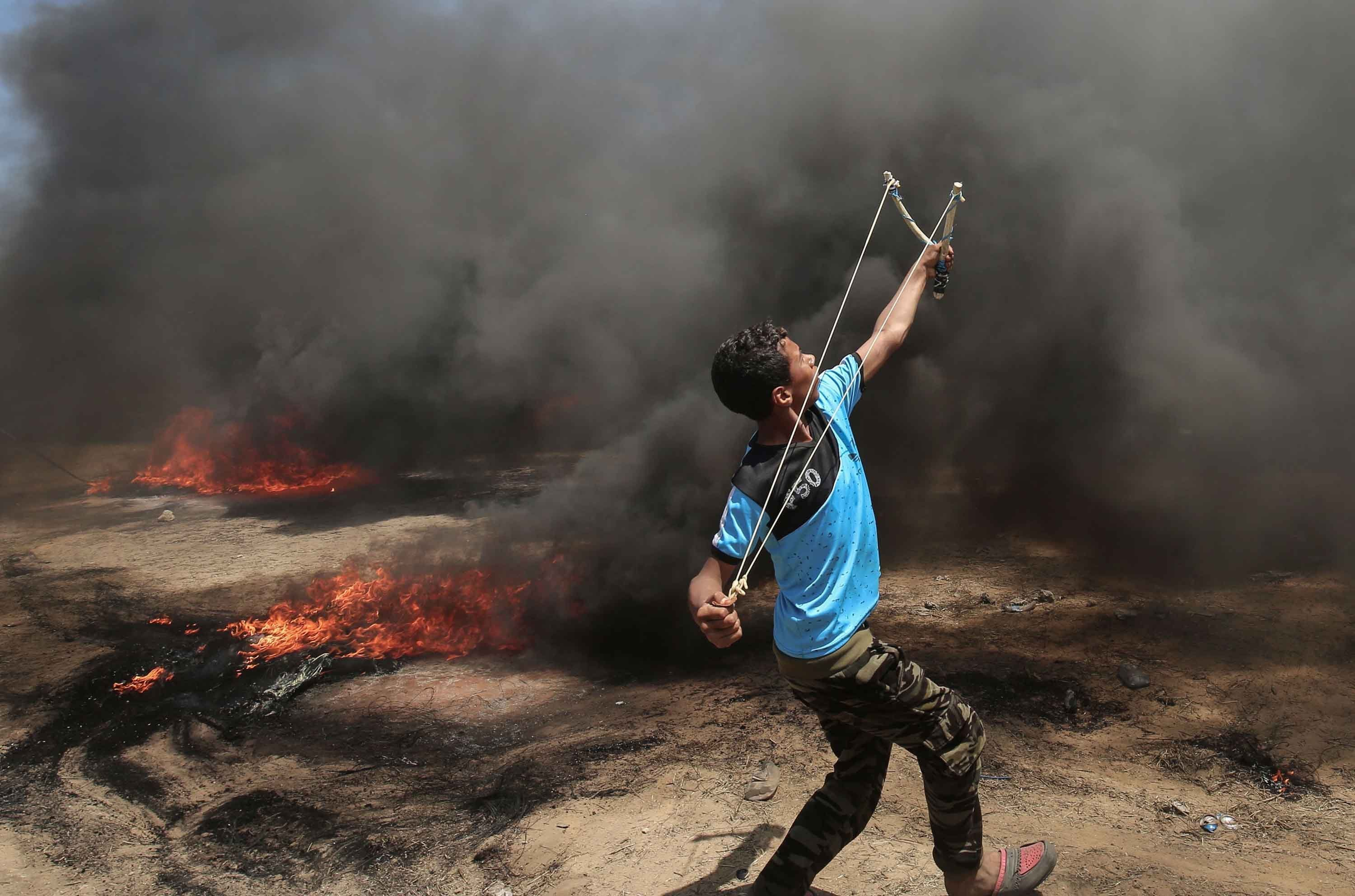 Dozens of Palestinians were killed by Israeli forces during clashes at the Gaza border on Monday, the largest number of fatalities suffered in one day since the latest round of protests began more than six weeks ago, the Palestinian Ministry of Health...