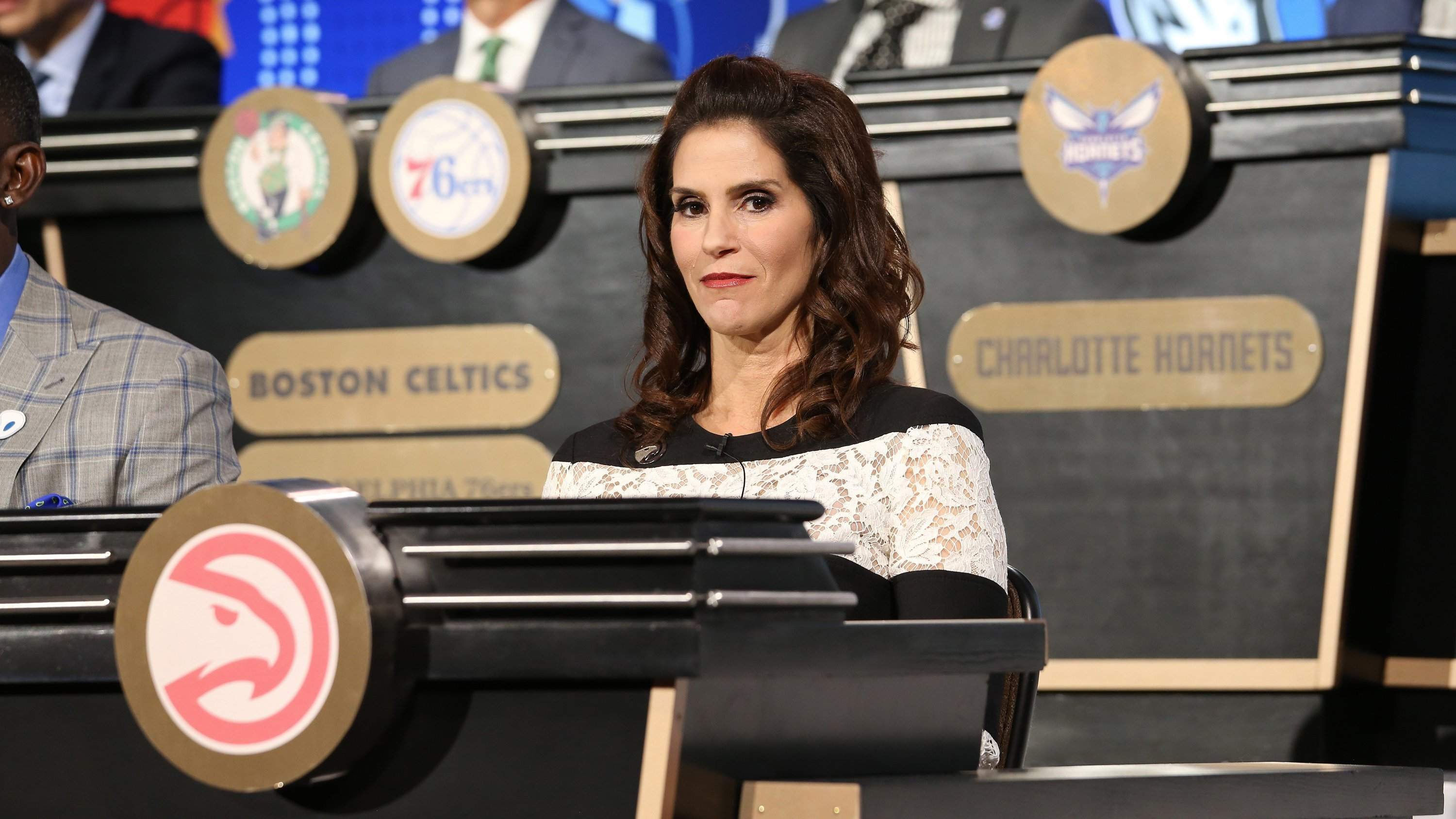 """Actress Jami Gertz, who is best known for her roles in TV shows such as """"Square Pegs"""" and """"Seinfeld"""" and films including """"The Lost Boys"""" and """"Less Than Zero,"""" was there representing the Atlanta Hawks at the NBA Draft Lottery."""