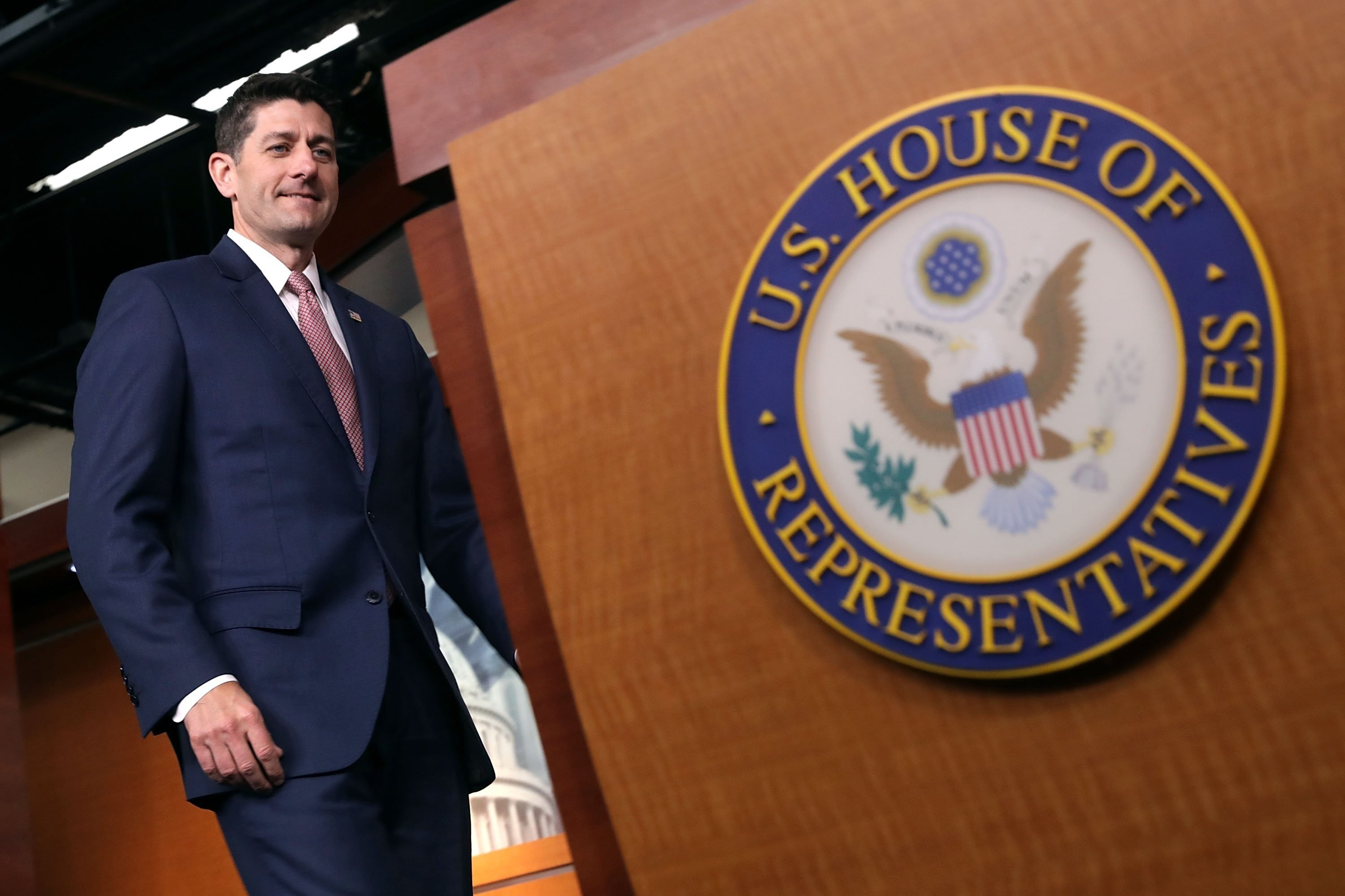 House Speaker Paul Ryan in a closed-door meeting on Wednesday sought to discourage fellow Republicans from signing a measure that would force an immigration vote, members leaving the meeting said.