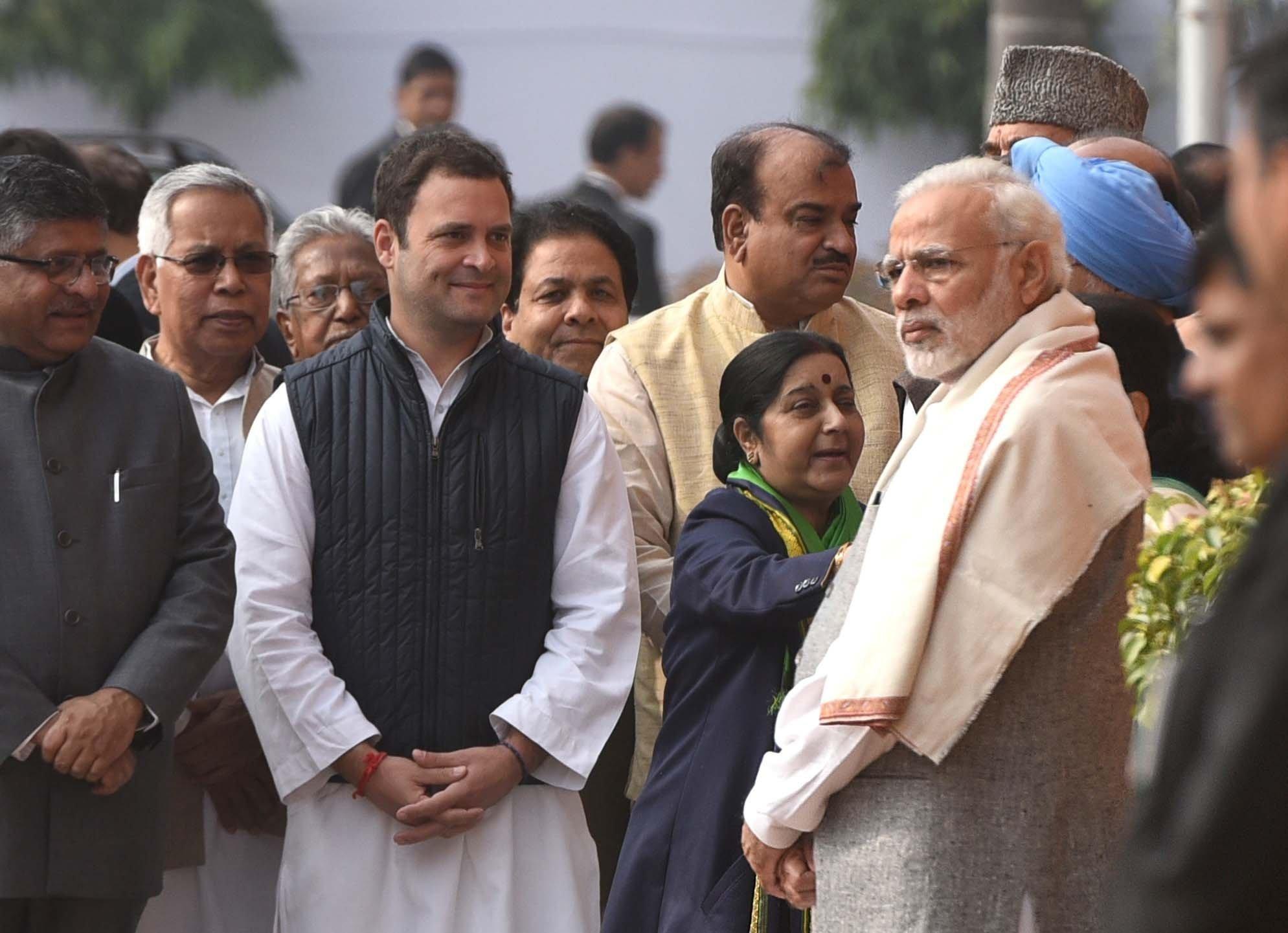 Prime Minister Narendra Modi, and Rahul Gandhi, together last year in New Delhi