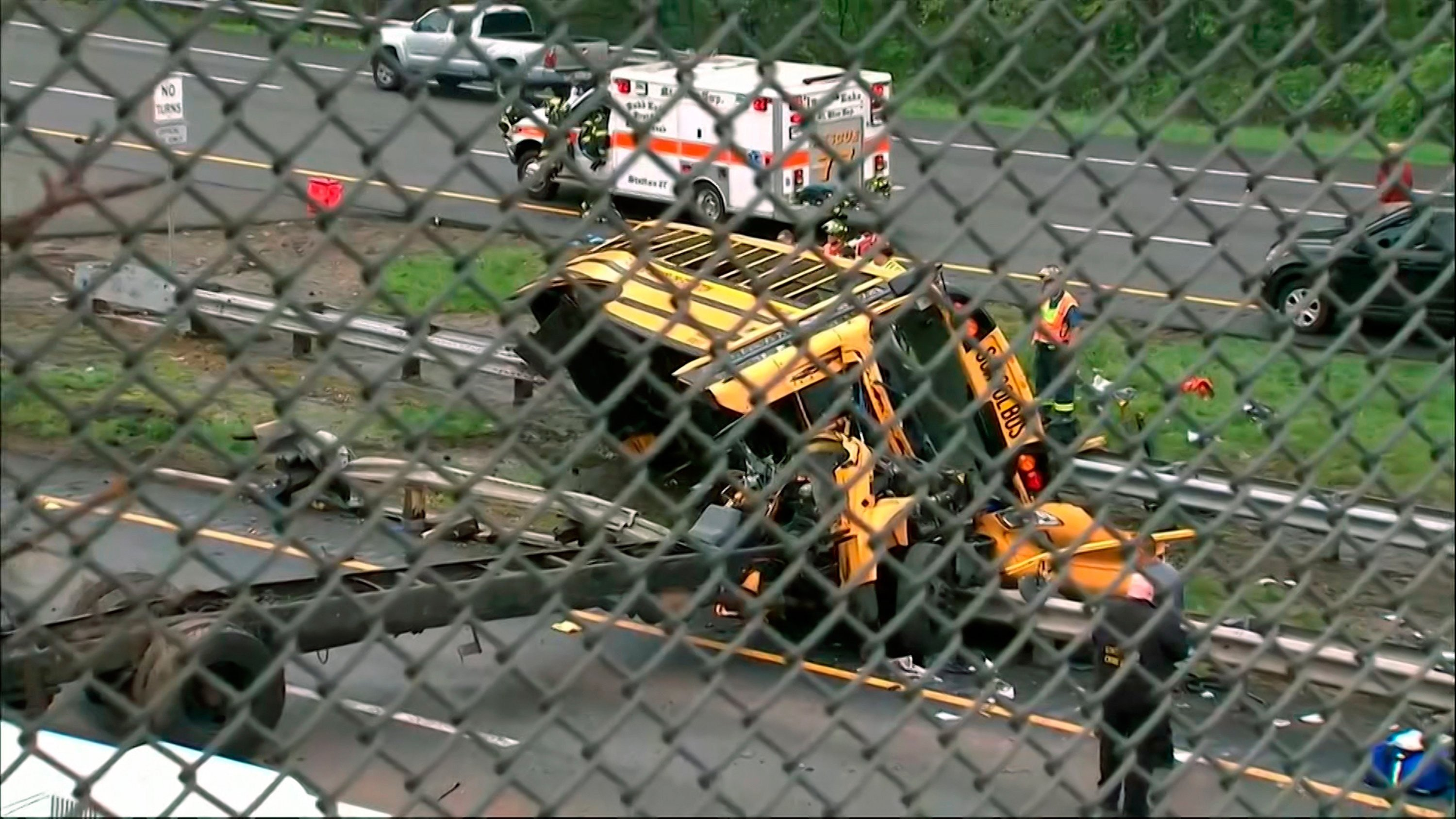 A school bus and a dump truck were involved in a serious accident Thursday morning in Mount Olive Township in Morris County New Jersey according to the township's mayor and a verified tweet from New Jersey State Police