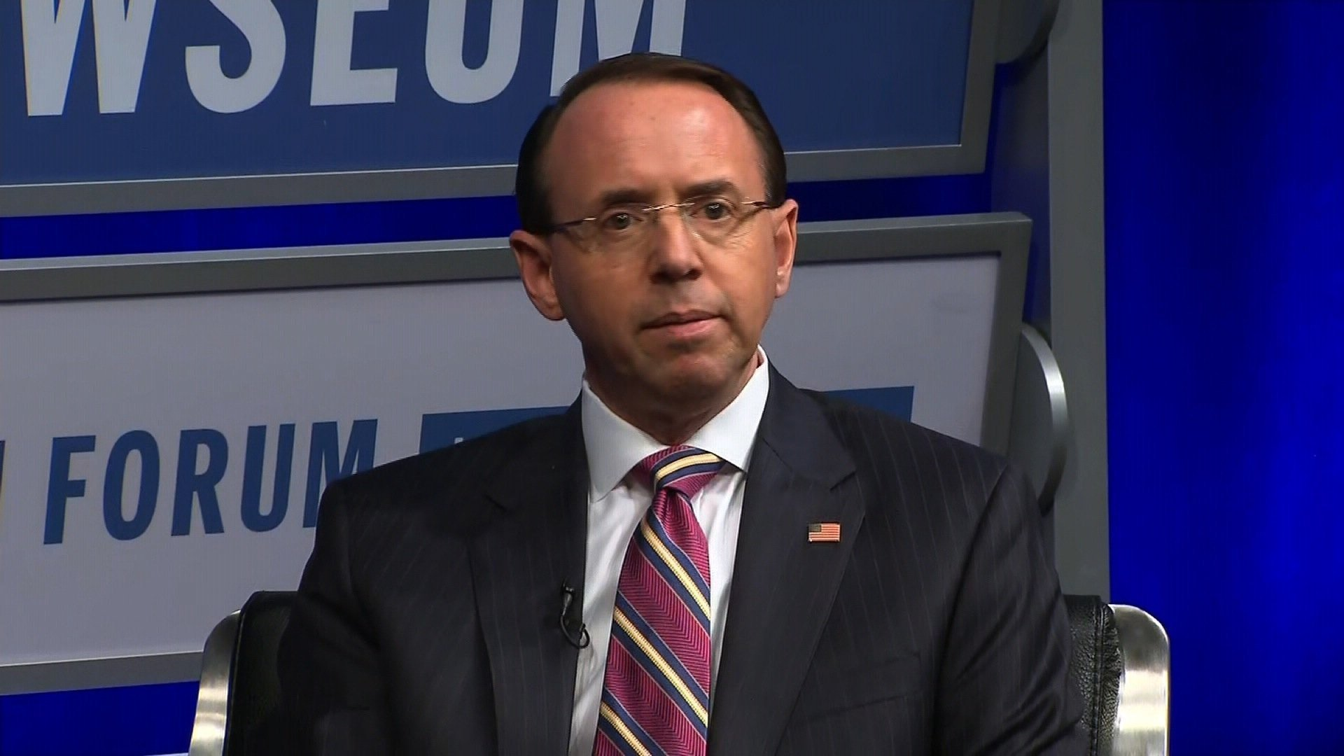 Trump won't say if he has confidence in Rosenstein