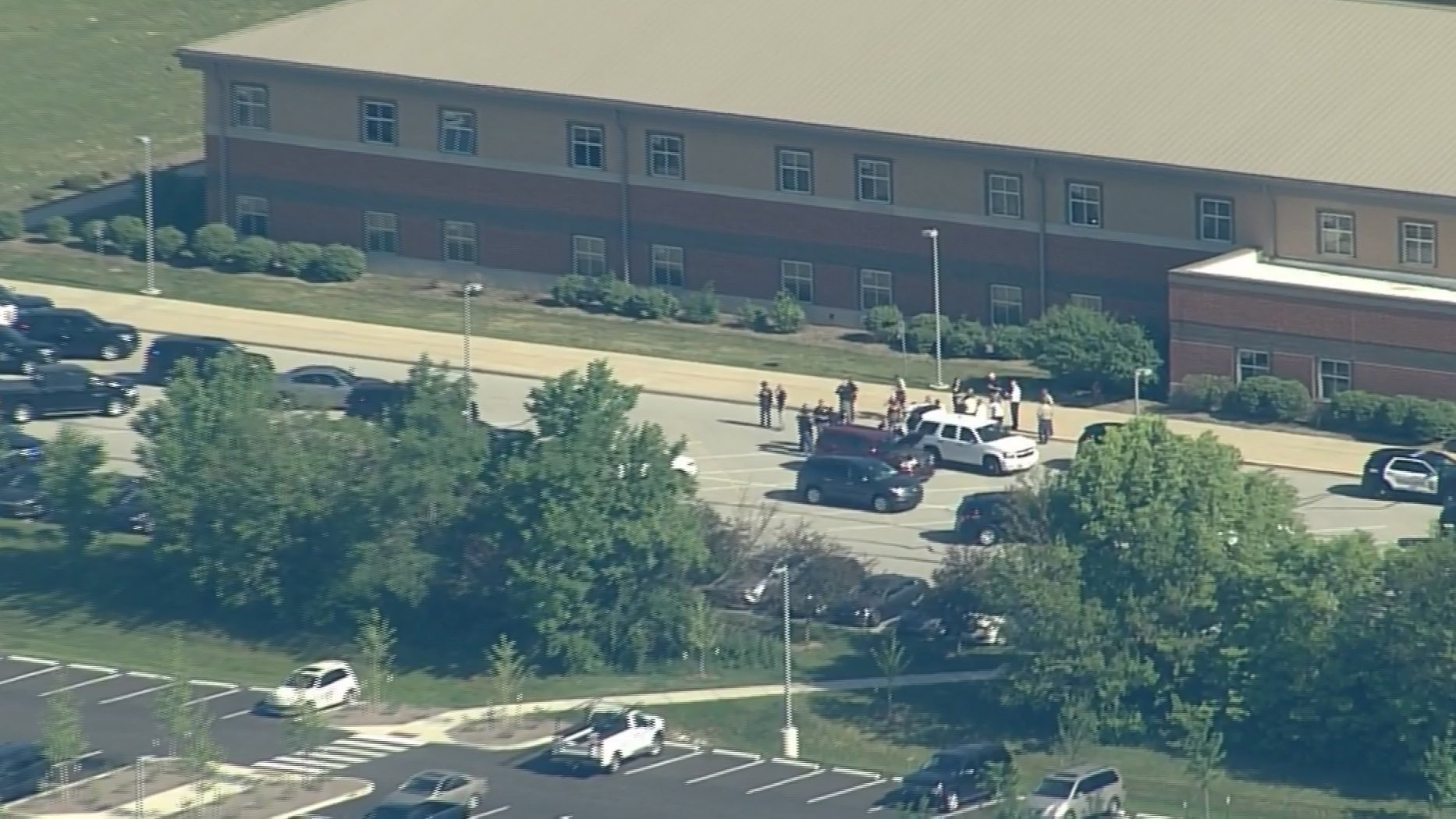 ***Embargo Indianapolis***  Shots have been reported at a middle school in Noblesville, Indiana, a receptionist for the school district told CNN Friday, May 25, 2018.