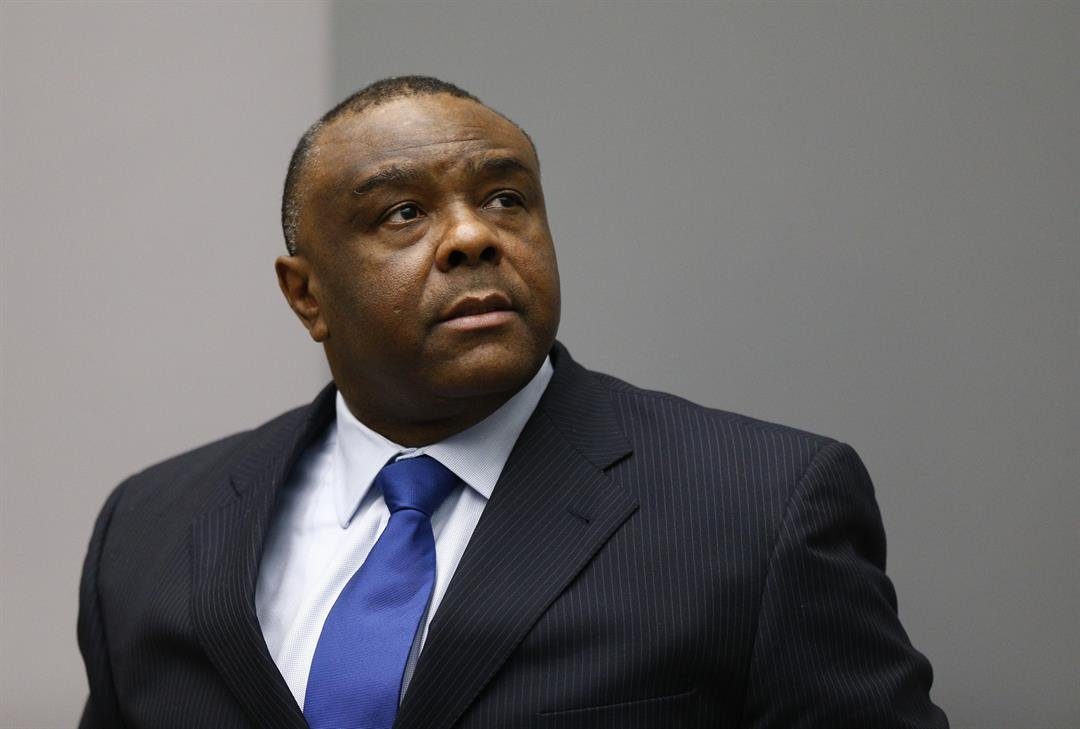 Jean-Pierre Bemba in the courtroom of the International Criminal Court in The Hague