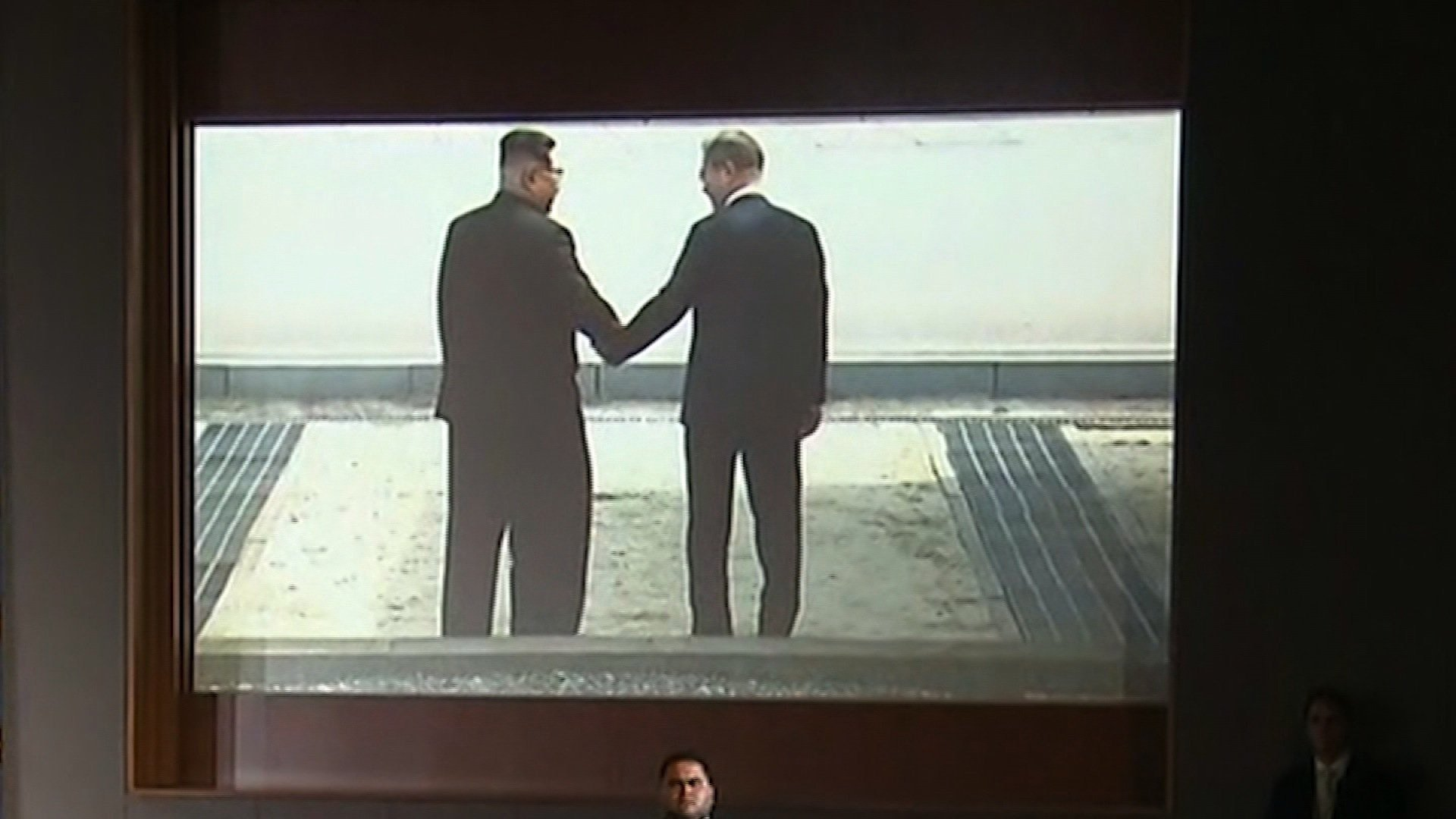 President Donald Trump pitched a message of peace between the United States and North Korea by showing North Korean dictator Kim Jong Un a Hollywood-style video during the historic Singapore summit.