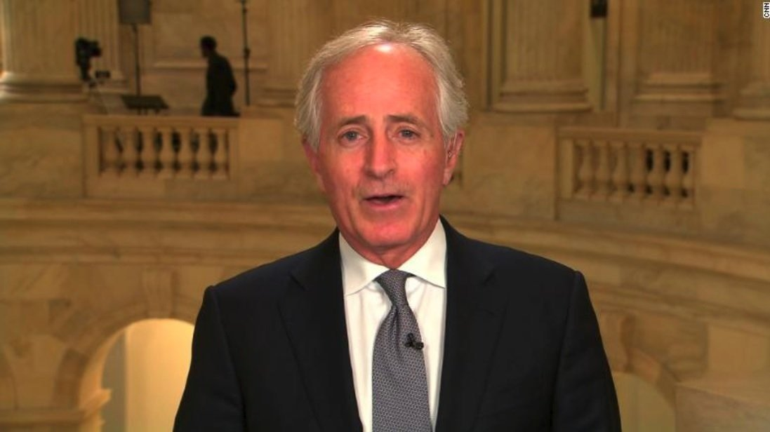 Corker blasts Senate colleagues for blocking vote on tariffs