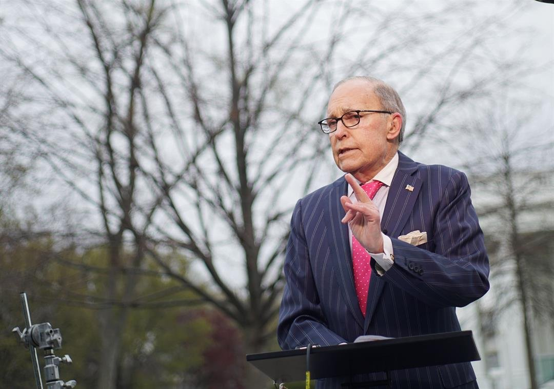National Economic Council director Larry Kudlow is continuing to recover from a mild heart attack the White House said Tuesday