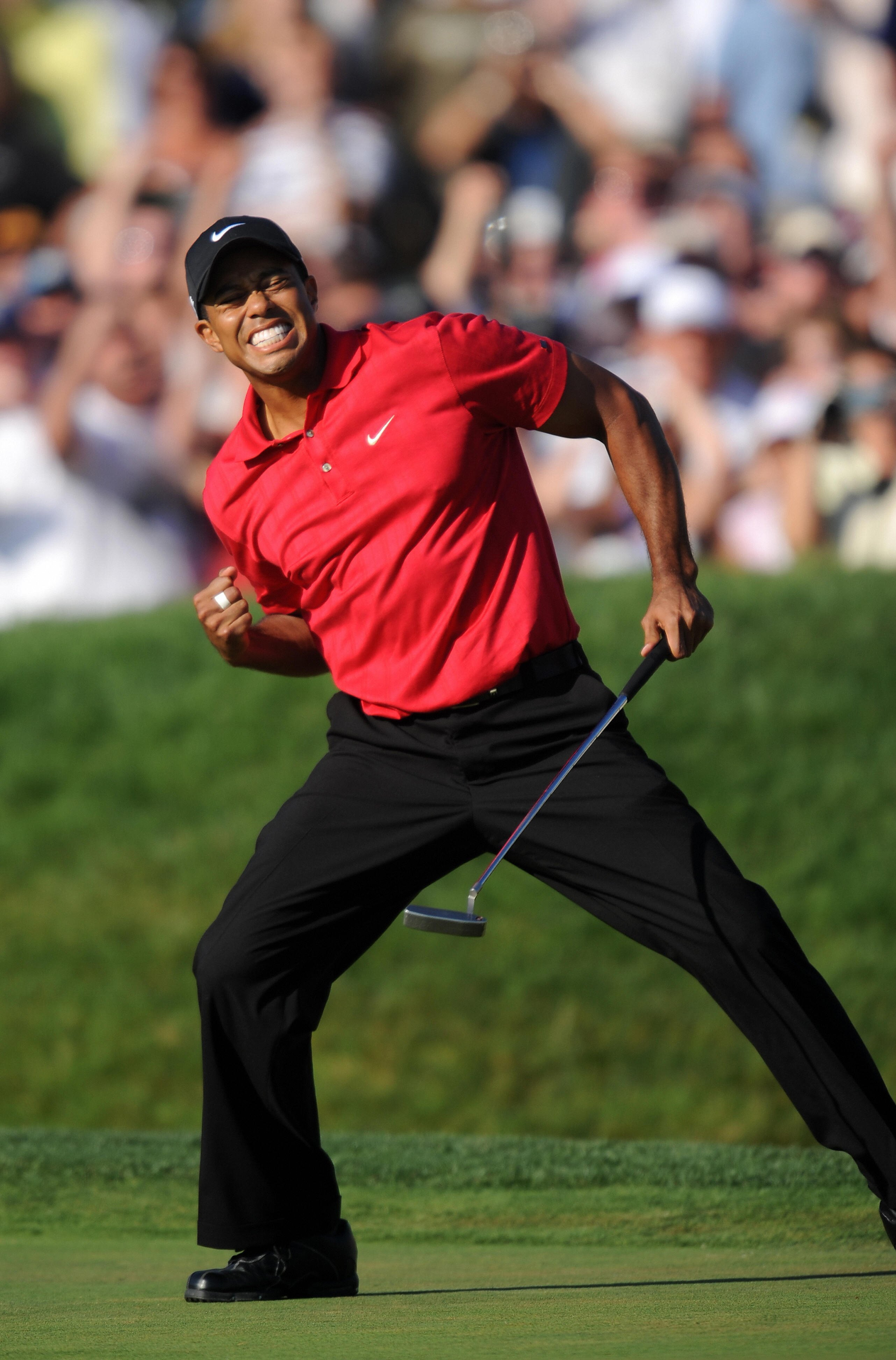 Tiger Woods defied injury to win a remarkable 2008 US Open in a playoff with Rocco Mediate.