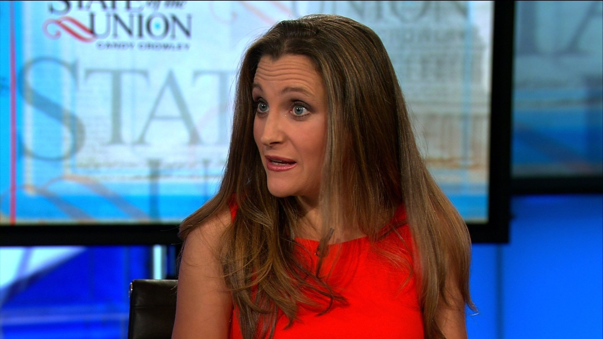 "(FILE) Canadian Foreign Minister Chrystia Freeland said the US decision to slap tariffs against Canada on national security grounds was ""absurd"" and that her country was moving forward ""more in sorrow than in anger"" with retaliatory tariffs."