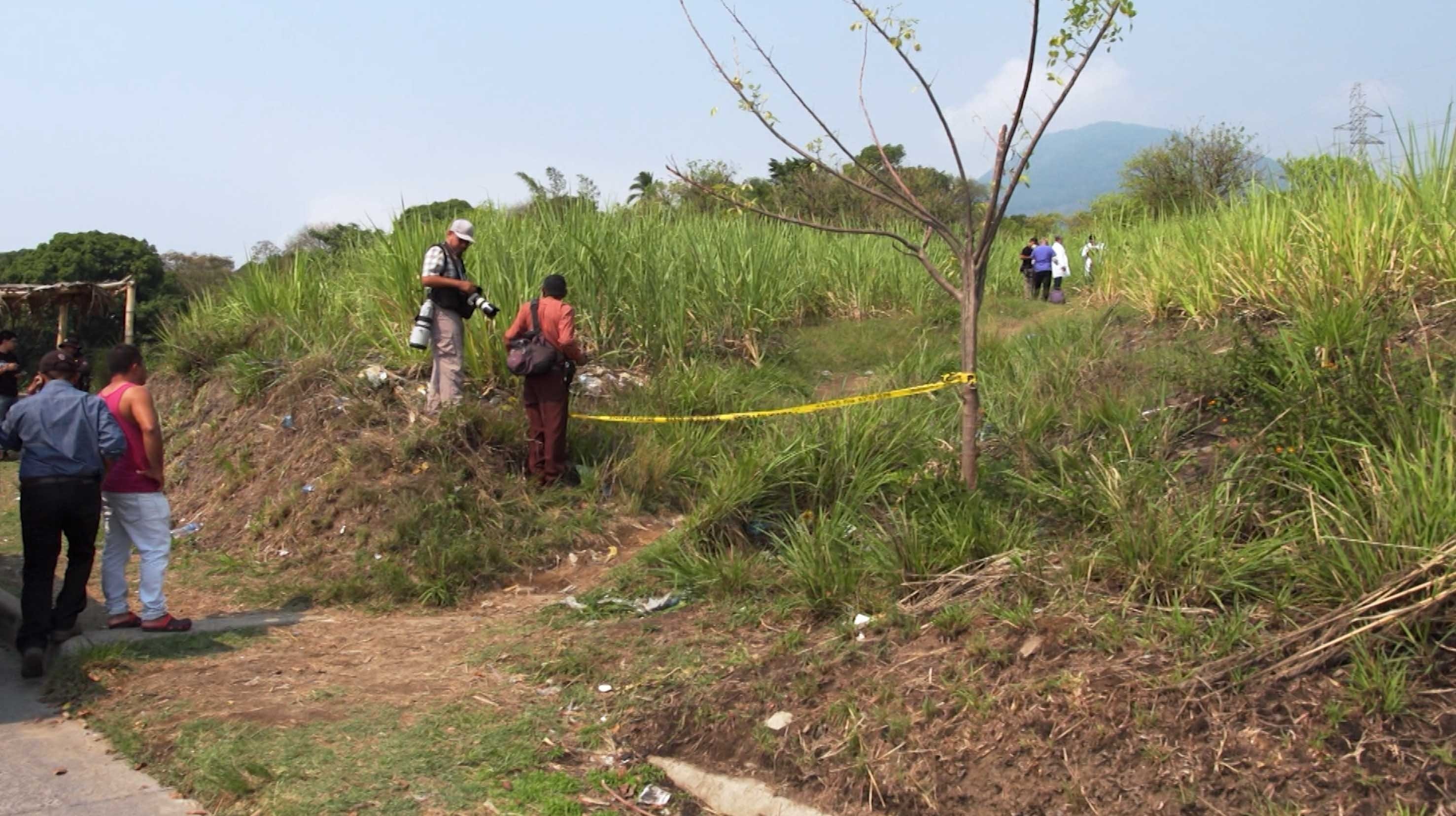 The scene at the side of a highway where Jennifer Landaverde, 22, was found dead.