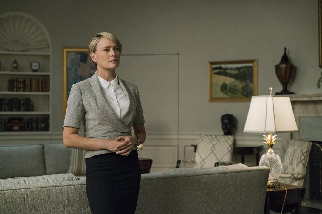 """""""House of Cards"""" celebrated the Fourth of July with a tweet featuring Robin Wright, who portrays Claire Underwood on the show."""