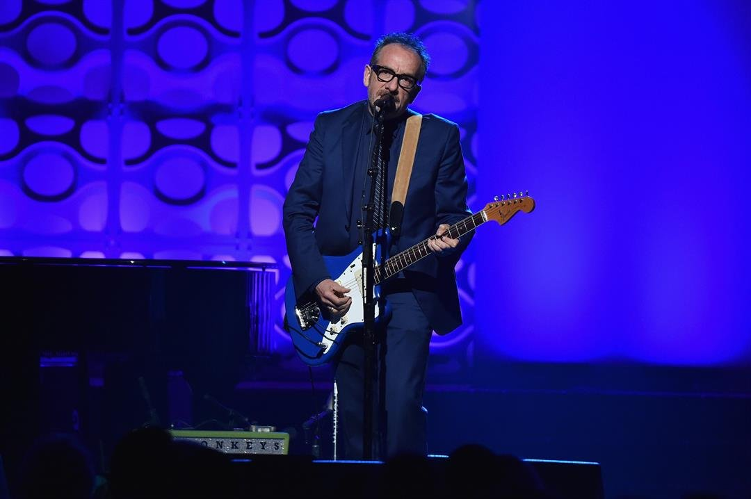 Elvis Costello performs onstage during the Songwriters Hall Of Fame 47th Annual Induction And Awards at Marriott Marquis Hotel on June 9, 2016, in New York City.  Full Credit: Theo Wargo/Getty Images for Songwriter's Hall of Fame