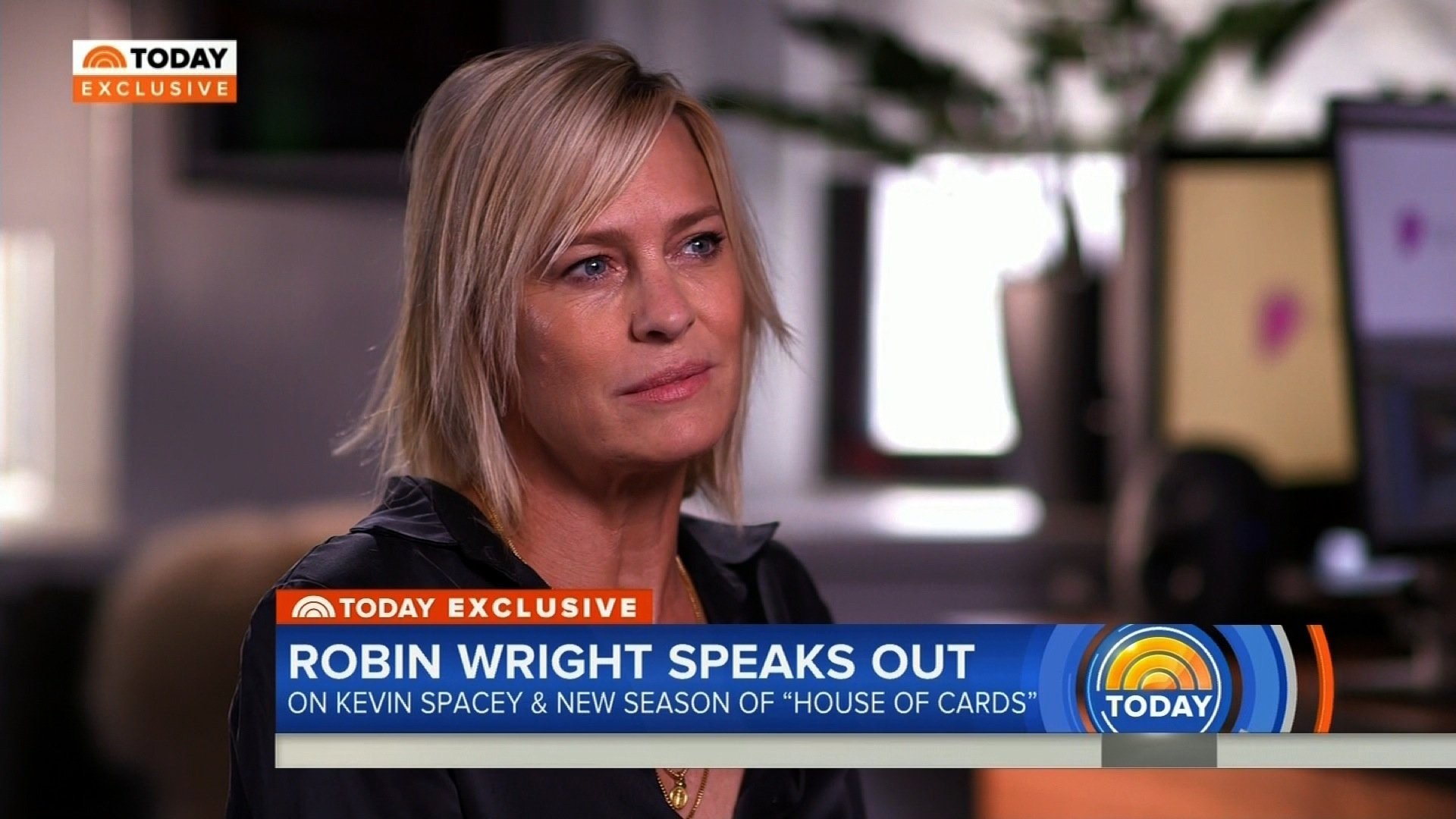 According to Robin Wright, she and Kevin Spacey were more co-workers than friends.
