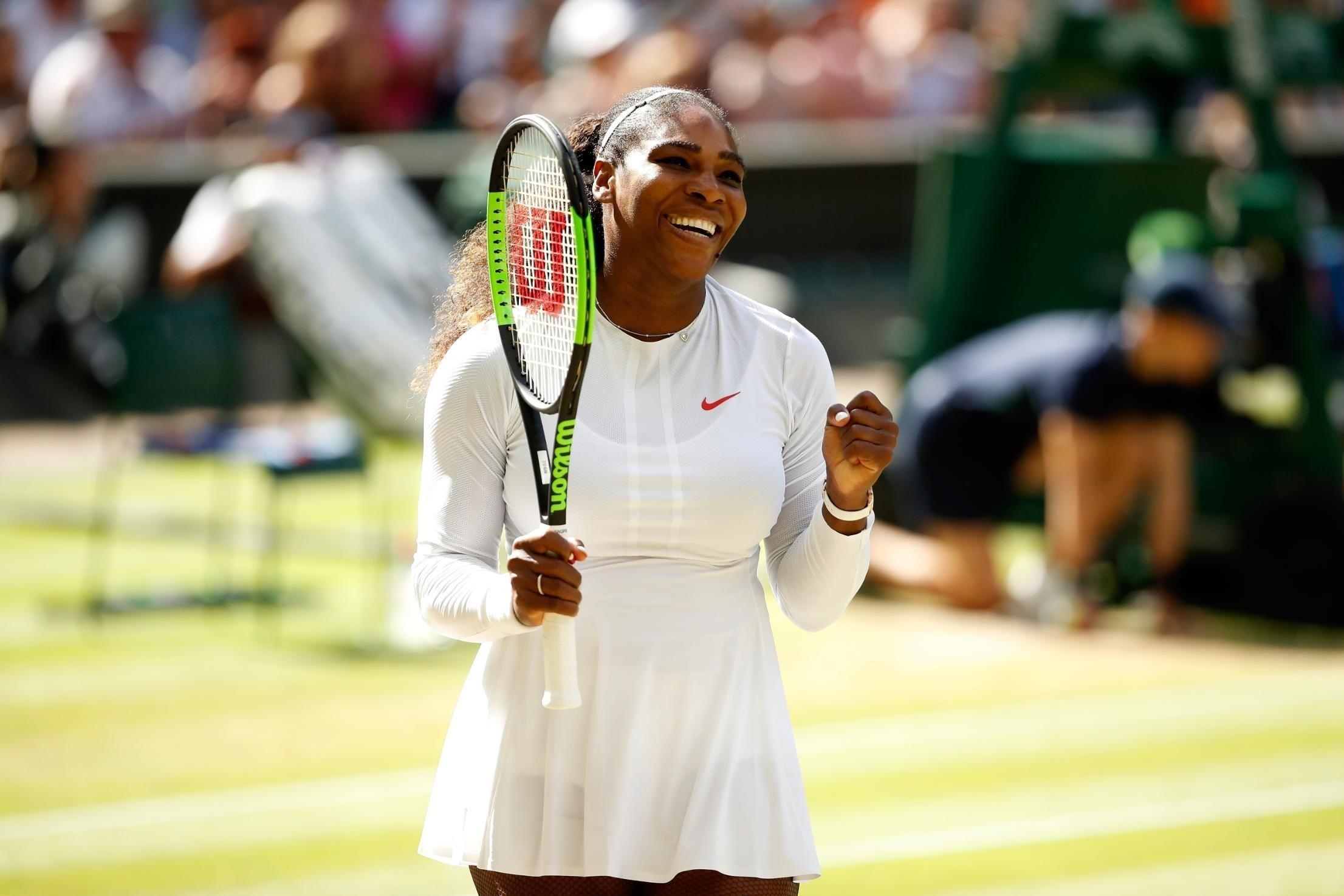 Serena Williams beat Camila Giorgi to make the Wimbledon semifinals.