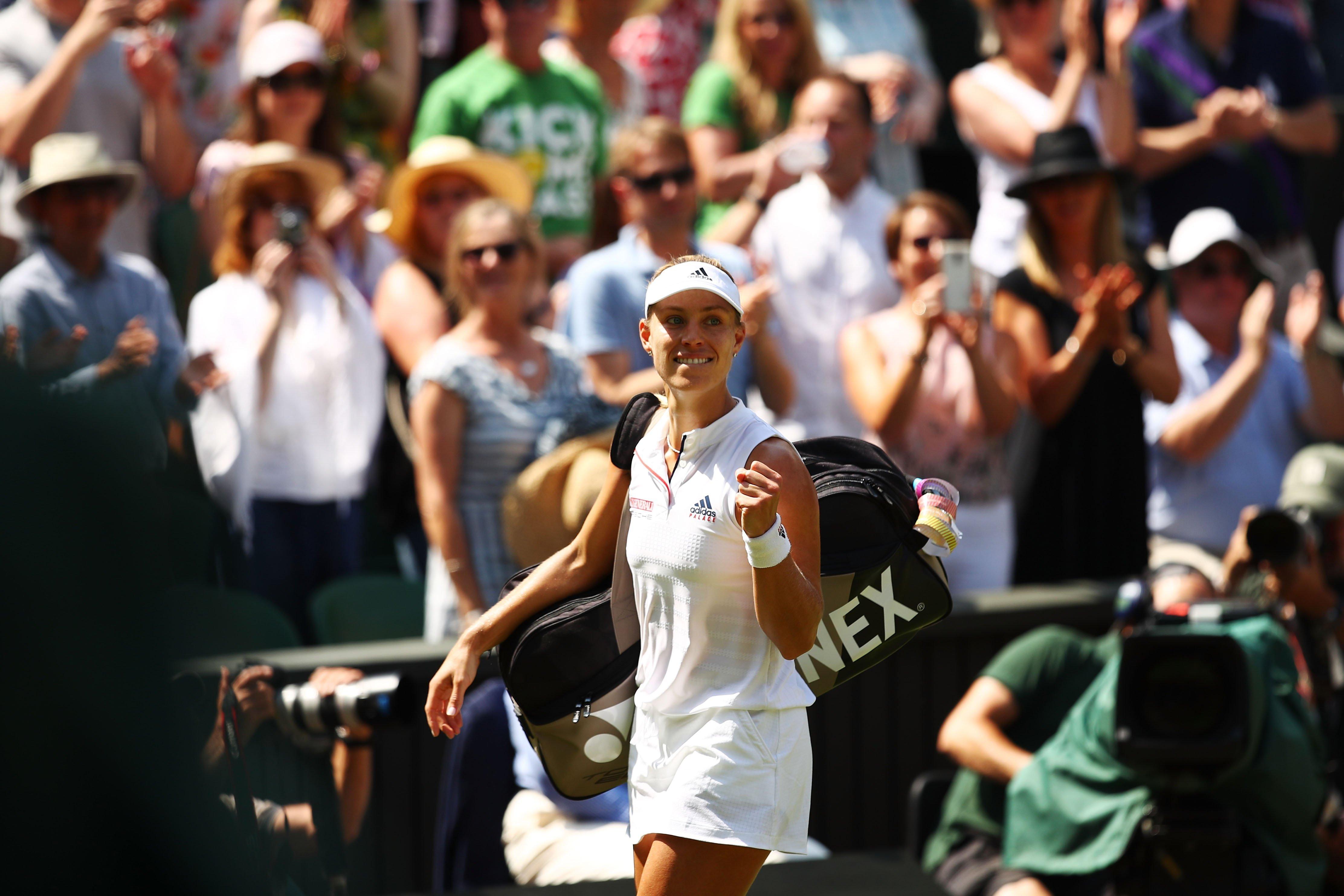 Angelique Kerber defeats Jelena Ostapenko to go through to Wimbledon final.