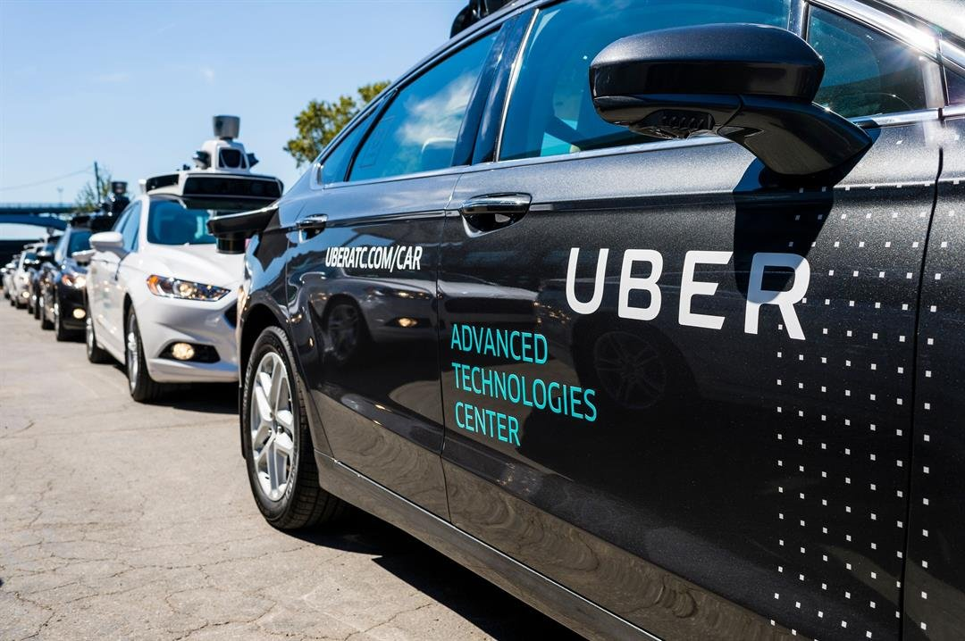 In this file photo taken on September 13, 2016, pilot models of the Uber self-driving car are displayed at the Uber Advanced Technologies Center in Pittsburgh, Pennsylvania (FILE).
