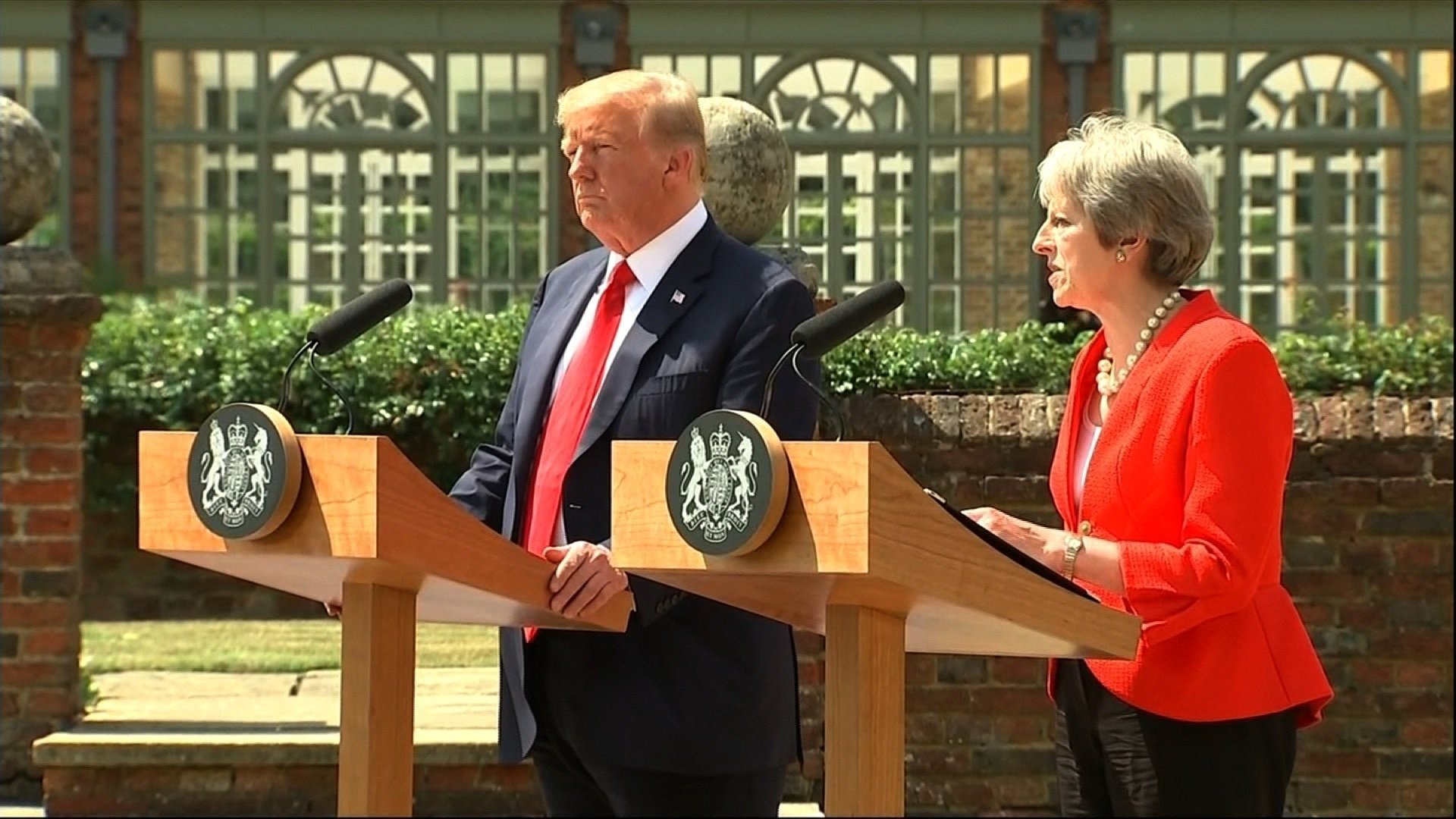 May reveals Trump Brexit advice: Sue the EU, don't negotiate