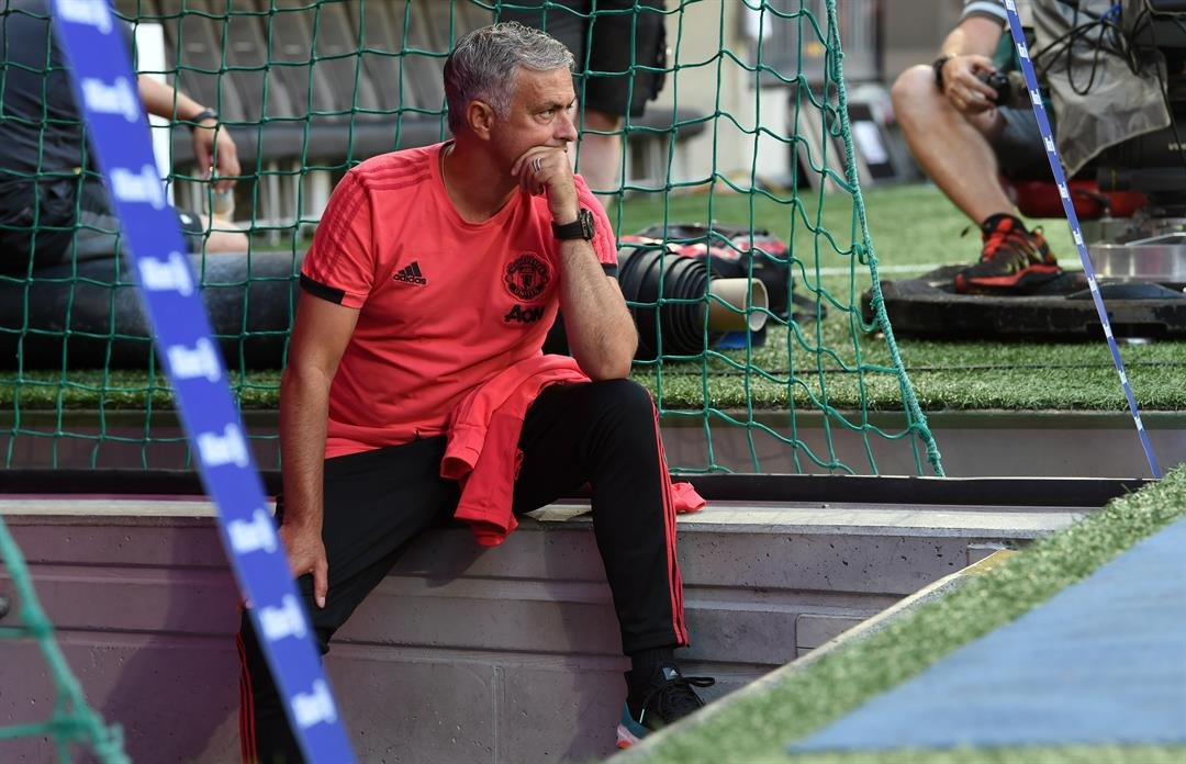 """United manager Jose Mourinho, entering his third season at Old Trafford, has looked like a Bassett Hound for most of the summer, predicting a """"difficult season"""" for a team which finished second in May."""