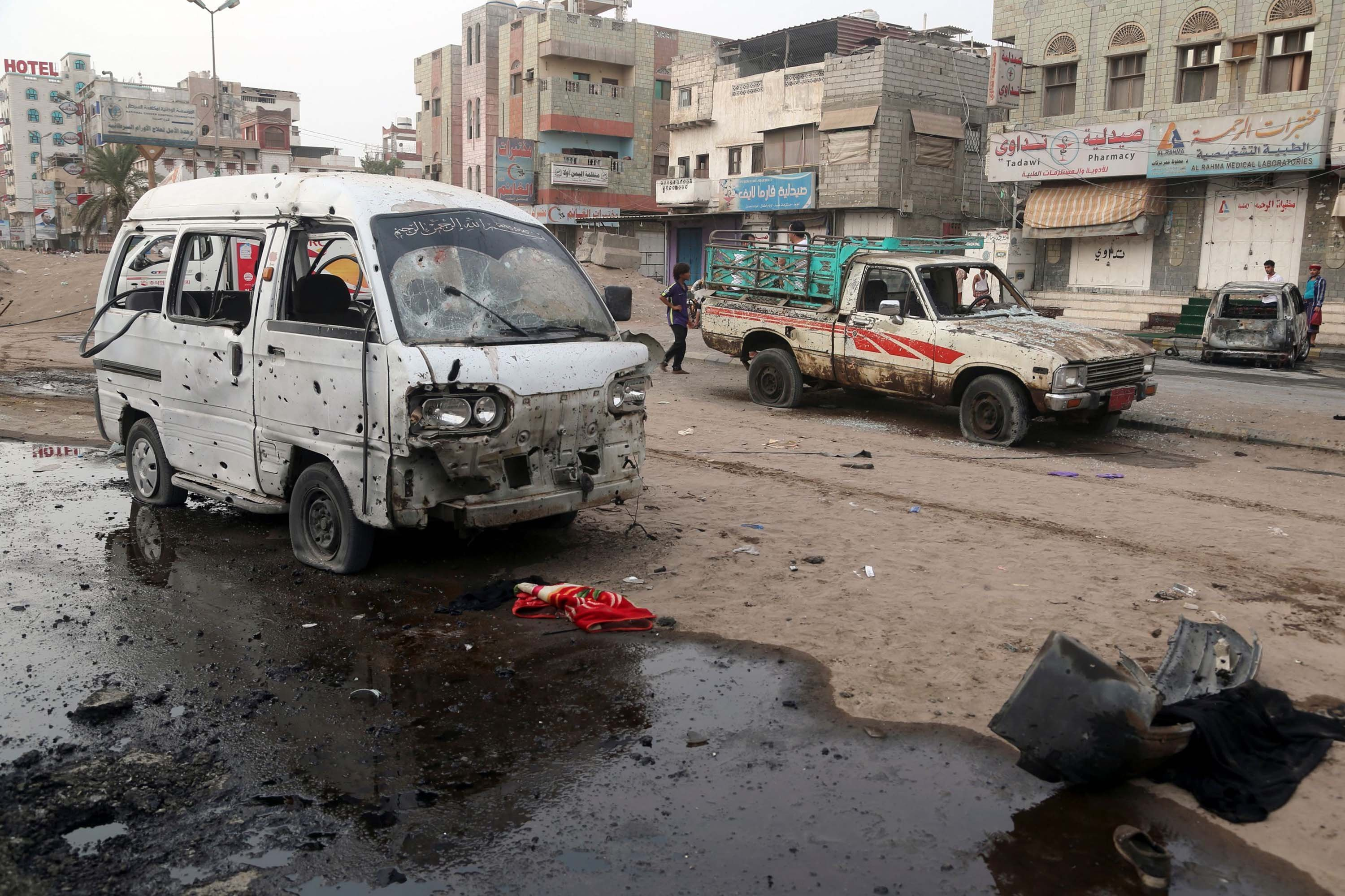 The airstrike on Thursday hit a bus carrying children from a summer camp in a busy market area in the northern Majz District, UN spokesman Farhan Haq said in a statement.