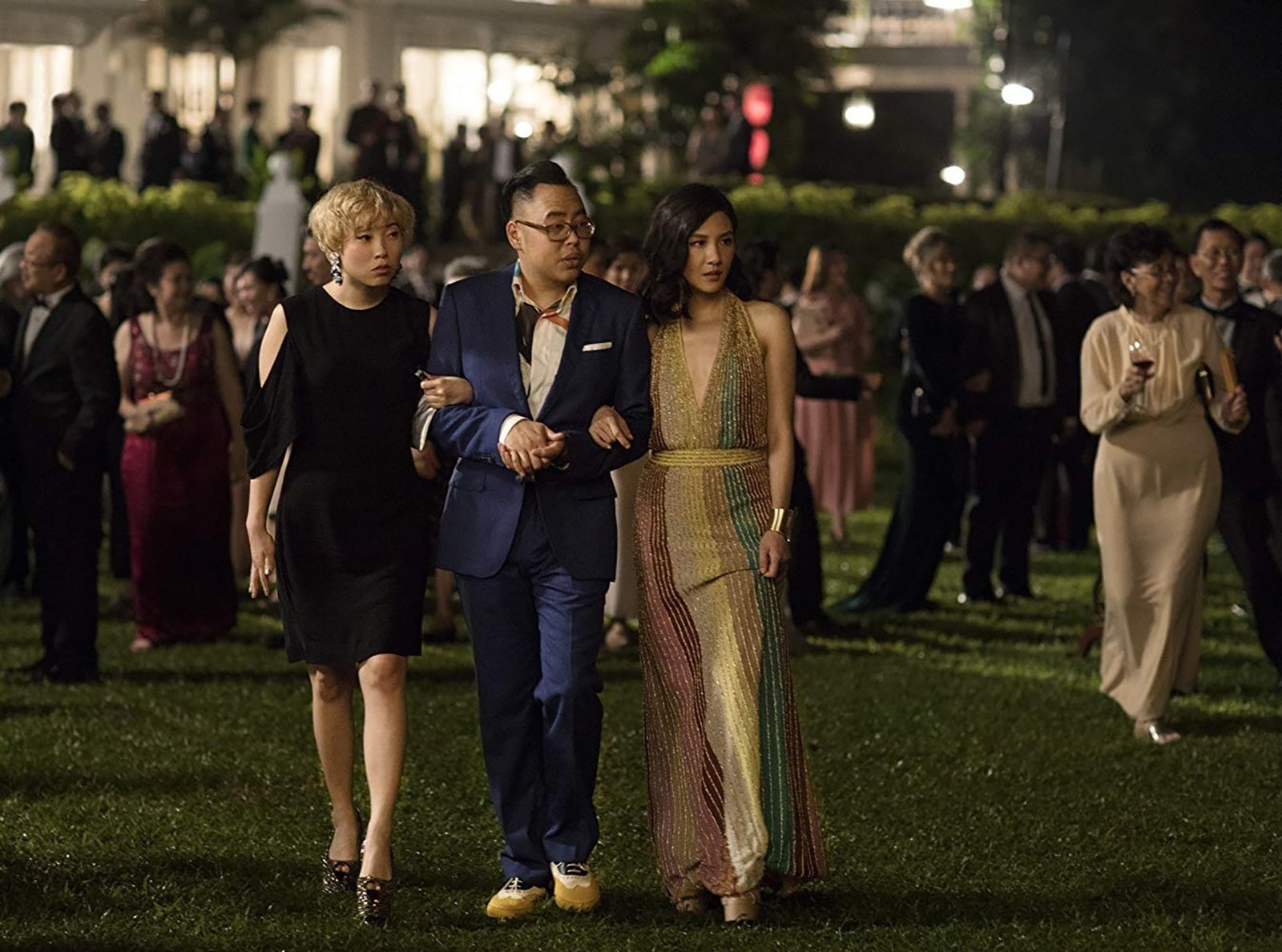 """""""Crazy Rich Asians"""" cast members Awkwafina, Nico Santos, Ronny Chieng and Janice Koh are hyperaware there's a lot riding on the success of their film."""