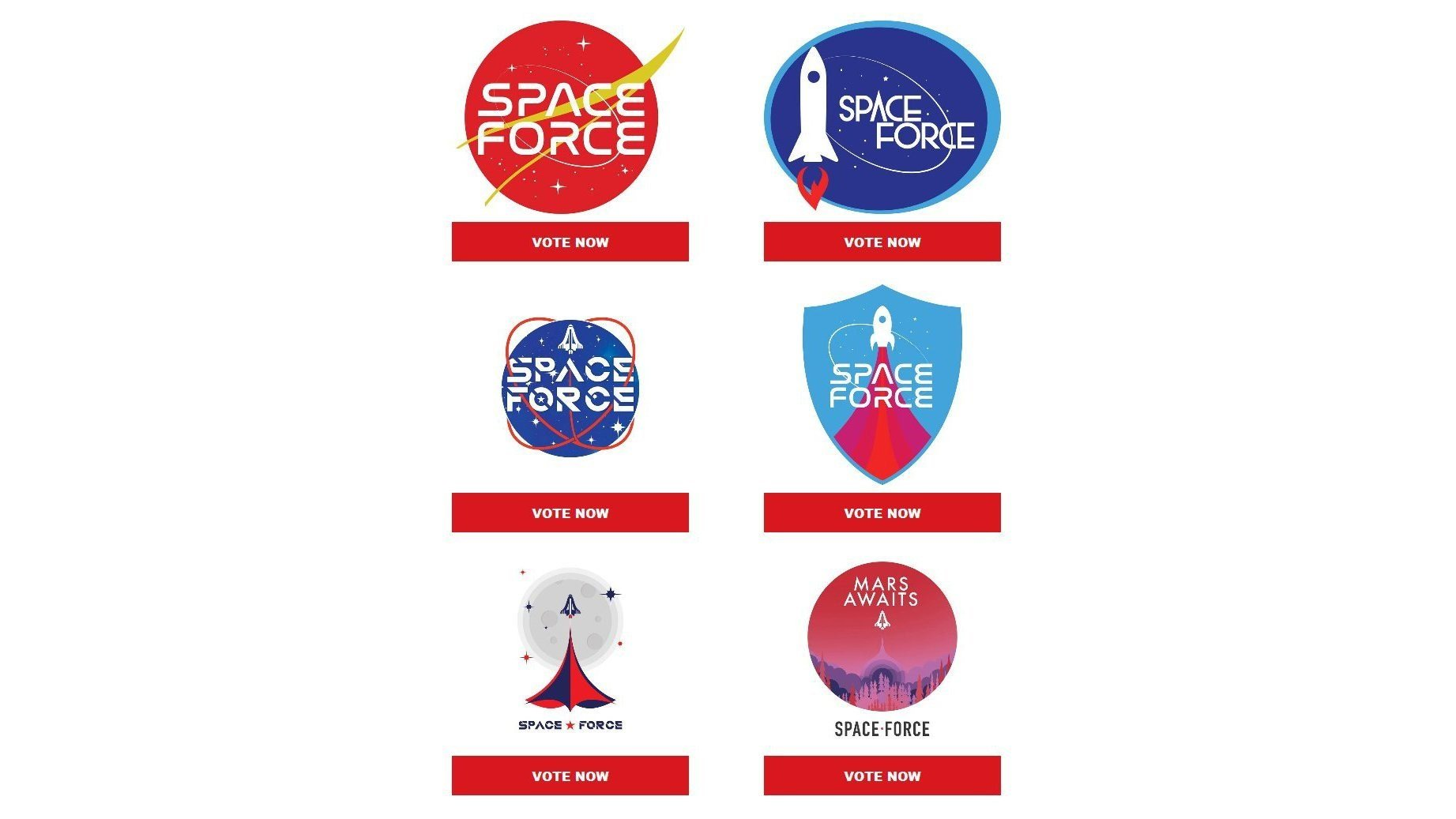 Trump 2020 to sell 'Space Force' merch