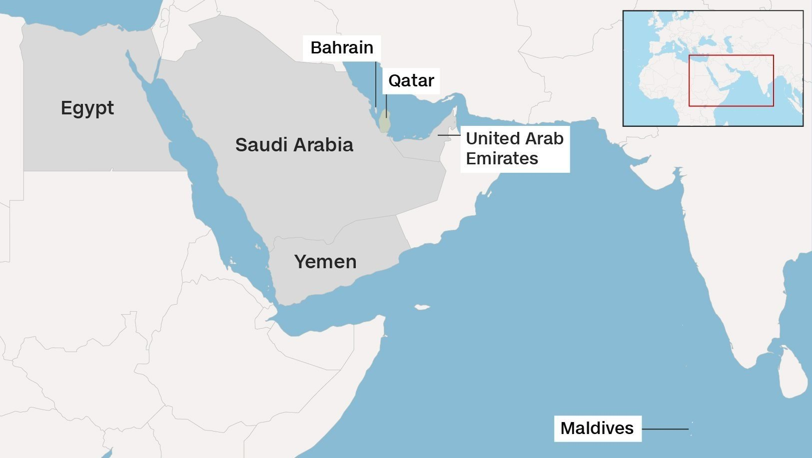 WENY News Quartet Says Qatar Talks Possible But No Concessions - Map us bases middle east