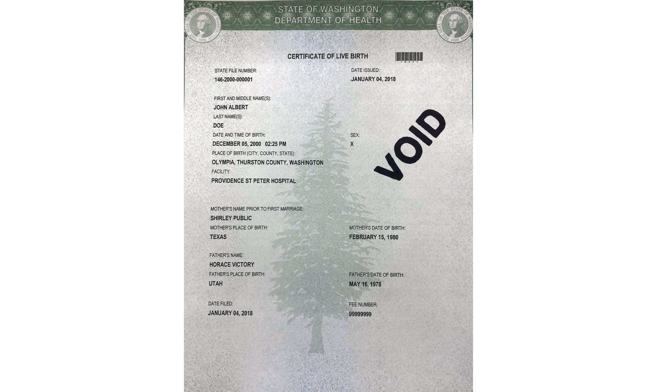 Washington state offers third gender option on birth certificate ...