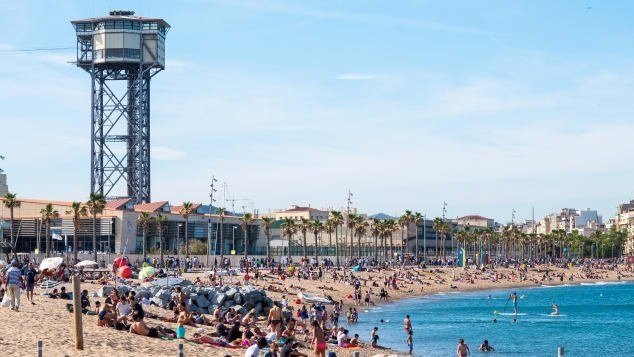 Hasil gambar untuk Sant Sebastía beach