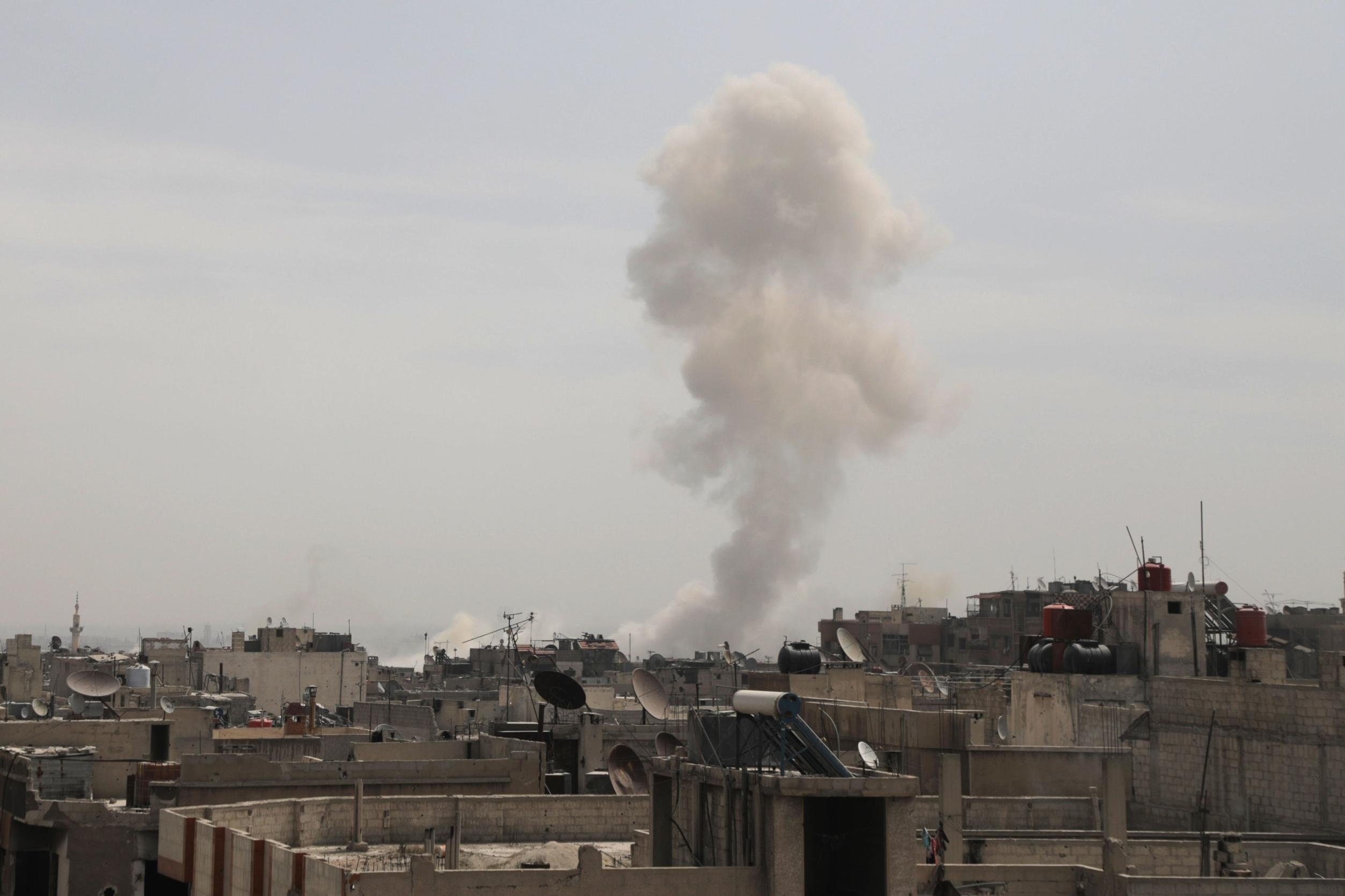 the chemical weaponry in the syria and the united states intervention Us hits syrian 'chemical weapons sites', in collaboration with uk and   confirming britain's involvement in the attack, uk prime minister.