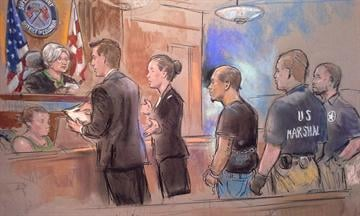 Accused White House fence jumper Omar Gonzalez makes his initial appearance in District of Columbia Saturday, Sept. 20, 2014.