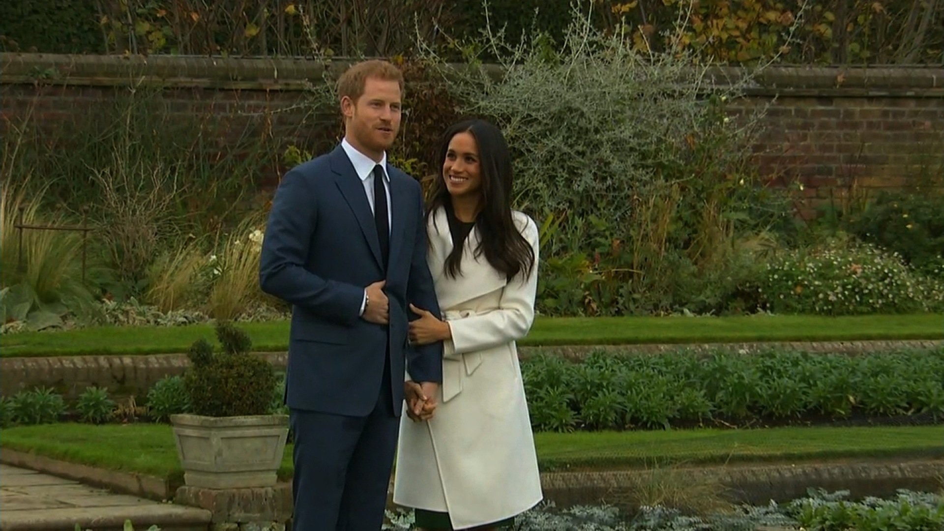Prince Harry and Meghan Markle seen here in 2017 annoucing their engagement. (File Photo)