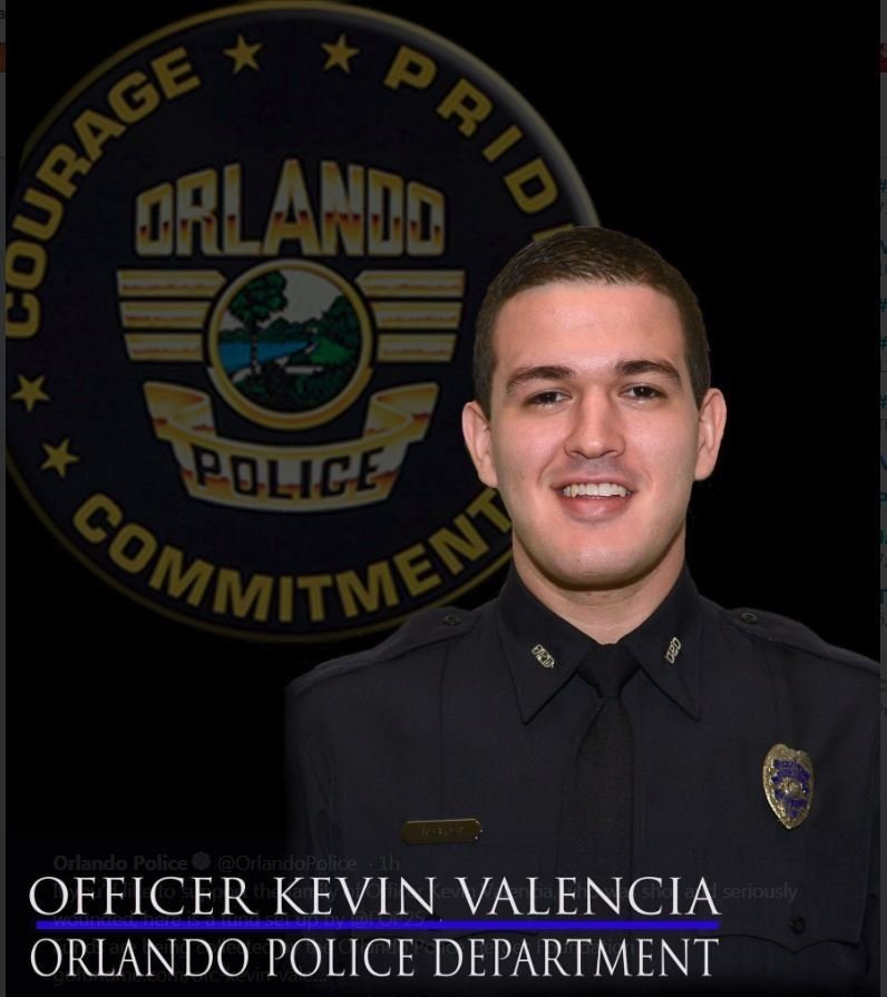 Kevin Valencia was shot during a standoff situation in Orlando.