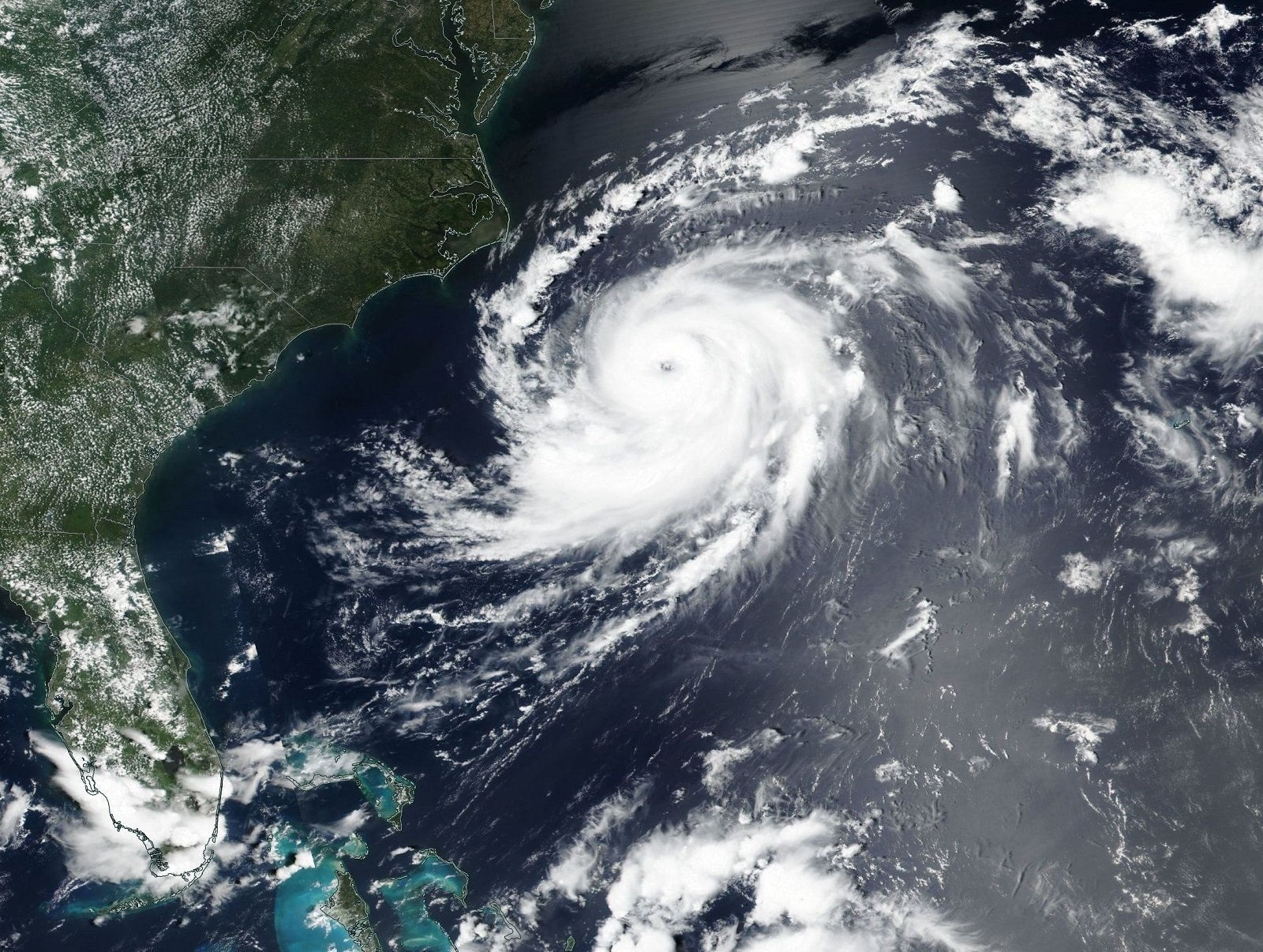 Hurricane Chris it swirling off the eastern coast of the United States.