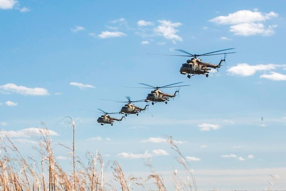 """Russian Ministry of Defence release """"war games"""" photos of planes and helicopters. The Russian Ministry of Defence is describing the military exercises as the largest since the Cold War."""