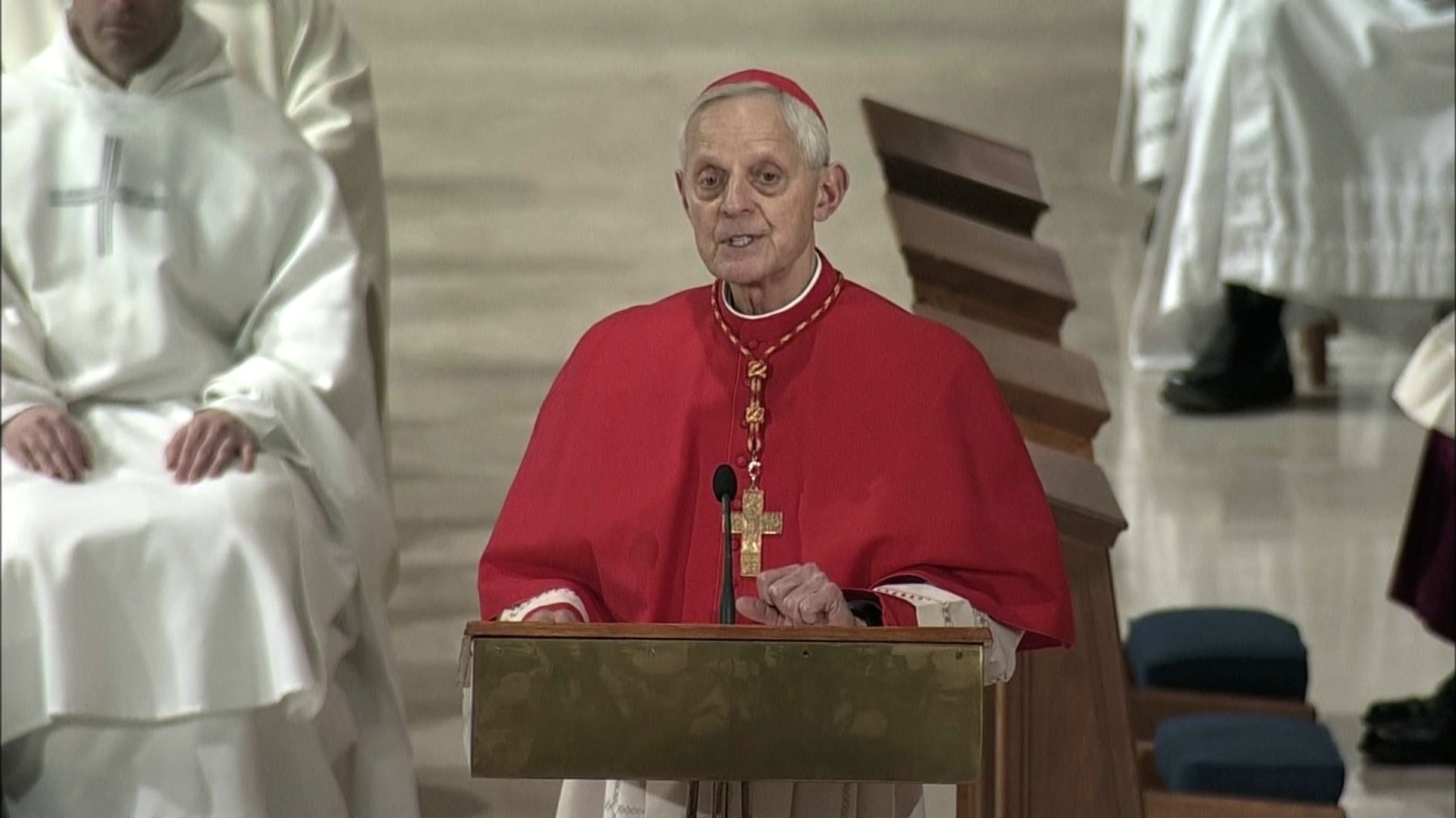 FILE- Cardinal Donald Wuerl, the embattled archbishop of Washington, said Tuesday that he expects to meet soon with Pope Francis to discuss the possibility of resigning.