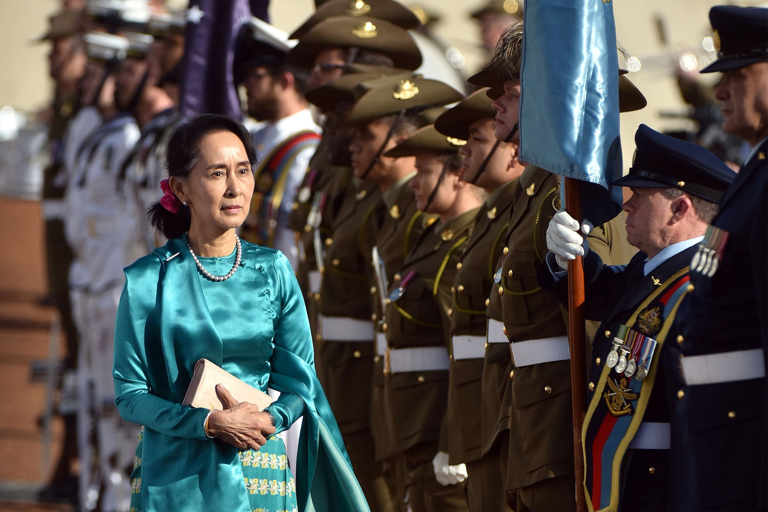 Myanmar leader Aung San Suu Kyi has said that, with hindsight, her government could have better handled the situation in Rakhine state that led to the forced displacement of more than 700,000 Rohingya Muslims.